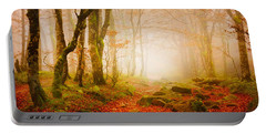 Yellow Forest Mist Portable Battery Charger