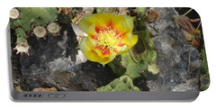 Yellow Cactus Flower Blossom Portable Battery Charger