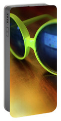 Portable Battery Charger featuring the photograph Yellow Goggles With Reflection by Carlos Caetano
