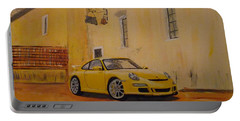 Yellow Gt3 Porsche Portable Battery Charger