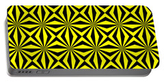 Portable Battery Charger featuring the digital art Yellow Happiness by Lucia Sirna
