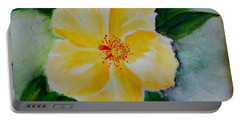 Yellow Hibiscus Portable Battery Charger by Jamie Frier