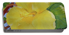 Yellow Hibiscus Portable Battery Charger