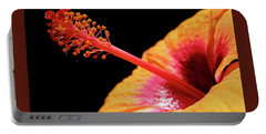 Portable Battery Charger featuring the photograph Yellow Hibiscus by Marie Hicks