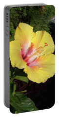 Yellow Hibiscus Portable Battery Charger by Suhas Tavkar