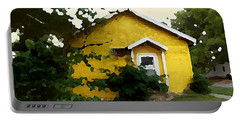 Yellow House In Shantytown  Portable Battery Charger