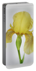 Portable Battery Charger featuring the photograph Yellow Iris A Symbol Of Passion by David and Carol Kelly