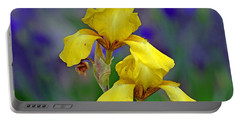 Portable Battery Charger featuring the photograph Yellow Iris by Rodney Campbell