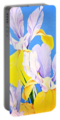 Yellow Irises-posthumously Presented Paintings Of Sachi Spohn  Portable Battery Charger