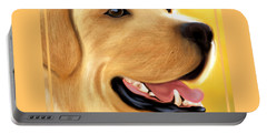 Yellow Lab Portrait Portable Battery Charger