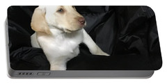 Yellow Lab Puppy Sadie Portable Battery Charger by Jeffrey Koss