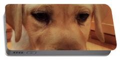 Yellow Labrador Retriever Cute Puppy Face Portable Battery Charger