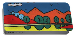 Yellow Lake Portable Battery Charger by SpiritPainter