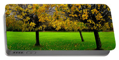Yellow Leaves At Muckross Gardens Killarney Portable Battery Charger