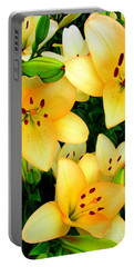 Portable Battery Charger featuring the photograph Yellow Lilies 3 by Randall Weidner
