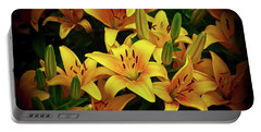 Portable Battery Charger featuring the photograph Yellow Lilies by Joann Copeland-Paul