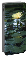 Yellow Lilly Tranquility Portable Battery Charger