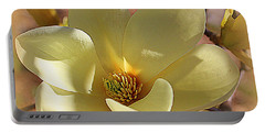 Yellow Magnolia In Full Bloom Portable Battery Charger