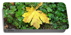Yellow Maple Leaf Portable Battery Charger