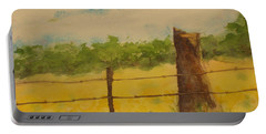 Portable Battery Charger featuring the painting Yellow Meadow  by Vicki  Housel