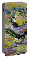 Yellow Moon Abstract Portable Battery Charger