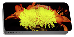 Yellow Mums And Orange Lilies  Portable Battery Charger