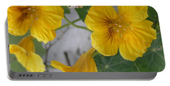 Yellow Nasturtium Portable Battery Charger