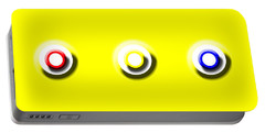 Yellow Nine Squared Portable Battery Charger