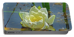 Yellow Nymphaea Alba Damselfy Portable Battery Charger