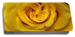 Yellow Ochre Rose Portable Battery Charger