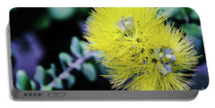 Yellow Ohia Flowers In Hawaii Portable Battery Charger