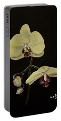 Yellow Orchid Portable Battery Charger