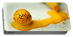 Yellow Painted Ball Portable Battery Charger