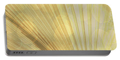 Yellow Palm Frond Lh Portable Battery Charger