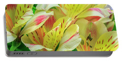 Yellow Peruvian Lilies In Bloom Portable Battery Charger