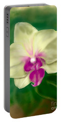 Yellow Phalenopsis Portable Battery Charger