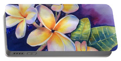 Yellow Plumeria Flowers Portable Battery Charger
