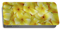 Yellow Plumerias Portable Battery Charger