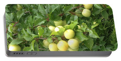Yellow Plums Portable Battery Charger by Kim Prowse