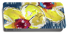 Yellow Poppies 2- Art By Linda Woods Portable Battery Charger by Linda Woods