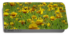 Yellow Poppy Field Portable Battery Charger