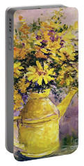Yellow Pot Of Sunshine Portable Battery Charger