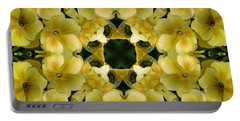 Yellow Primrose Kaleidoscope Portable Battery Charger