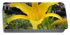 Yellow Renaissance Lily Portable Battery Charger