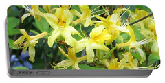 Portable Battery Charger featuring the photograph Yellow Rhododendron by Carla Parris