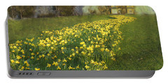 Yellow River To My Door Portable Battery Charger by LemonArt Photography