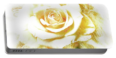 Portable Battery Charger featuring the photograph yellow Rose by Athala Carole Bruckner