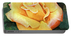 Yellow Rose Bloom In Oil Portable Battery Charger by Kirt Tisdale