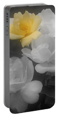 Yellow Rose Cluster Partial Color Portable Battery Charger by Smilin Eyes  Treasures