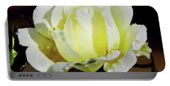Yellow Rose Dew Drops Portable Battery Charger